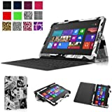 Fintie Folio Case for Microsoft Surface RT / Surface 2 10.6 inch Tablet Slim Fit with Stylus Holder (Does Not Fit Windows 8 Pro Version) - Newspaper