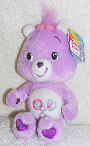 "2007 The New Care Bears - Plush 8"" Share Bear Bean Bag Doll front-970334"