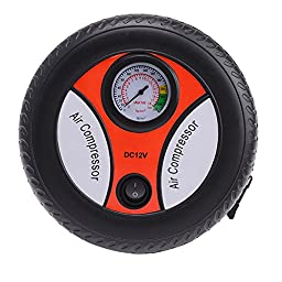 IMAGE Mini Portable Car Air Compressor 12v Auto Inflatable Pumps Electric Tire Inflater 260psi for Inflating Tires, Balls, Rubber Floaters, Hovercrafts and So On...
