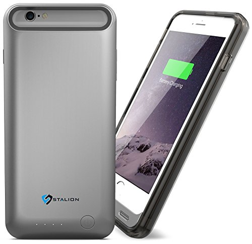 iPhone 6 6s Battery Case : Stalion® Stamina Rechargeable Extended Charging Case  with 2 Interchangeable Frames + LED Charge Indicator Light