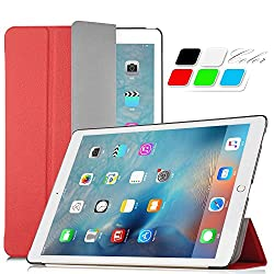 iPad Pro Case - IVSO ® Apple iPad Pro Ultra-Thin Slim Smart High Quality Cover Case With Auto Sleep/Wake Function--will only fit Apple iPad Pro Tablet (Red)