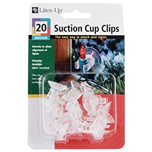 20 Indoor Suction Cup Clips 31051