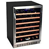 EdgeStar 53 Bottle Built-In Wine Cooler – Stainless Steel/Black