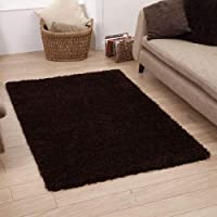 Shaggy Rug 963 Plain 5cm Floor Carpet Thick Soft Pile Modern Stylish 100% Berclon Twist Fibre Non-Shed Polyproylene Heat Set - AVAILABLE IN 7 SIZES by Quality Linen and Towels from Quality Linen and Towels
