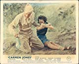 CARMEN JONES DOROTHY DANDRIDGE TIED UP BITING HARRY BELAFONTE LOBBY