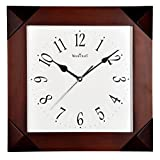 WOOD CRAFT Ws-1140a Sweep Wall Clock (wood Case - White Dial) Size- 32.8 X 32.8 C.m.