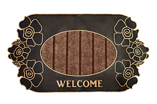 Minals Mark Floor Mats for Front 18 by 30-Inch, Charcoal Choir Rug Entrance Rug Grass Snow Scraper Clean Decor Rubber Doormats (Door Insulation Mat compare prices)