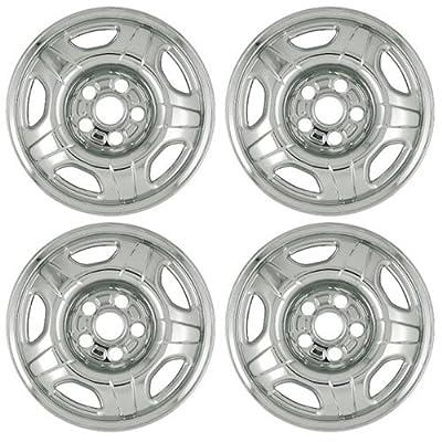 "Set of 4 16"" Chrome Hub cap Wheel Skins w Center: 2002 - 2004 Honda CRV w 15x6 Inch 5 Lug Steel Rim - aftermarket: IMP/48X"