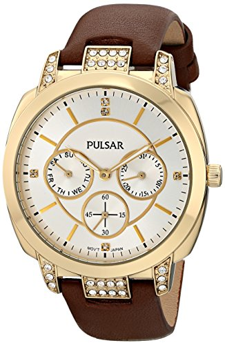 Pulsar Multifunction Leather - Brown Women's watch #PP6138