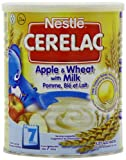Nestle Cerelac Stage 2 From 7 Months Apple and Wheat with Milk 400 g (Pack of 4)
