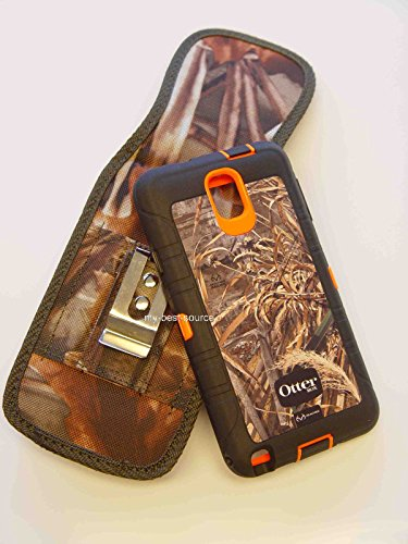 Heavy Duty Rugged Holster with Metal Belt Clip Lg G3 for Otterbox Defender Case - Camouflage Camo
