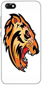 Snoogg Angry Tiger Face Mascot Vector Tattoo Designer Protective Back Case Co...