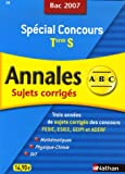 Spcial Concours Maths, Physique-Chimie, SVT Tle S : Sujets corrigs