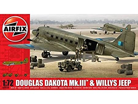 Airfix - Ai09008 - Maquette - Aviation - Douglas Dakota Mkiii Avec Jeep Willis