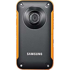 Samsung HMX-W300 Waterproof Pocket HD Digital Video Camcorder, Orange/Black