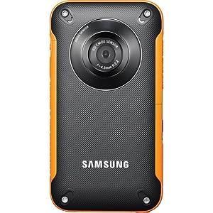 Samsung HMX-W300 Waterproof Pocket HD Digital Video Camcorder, Orange/Black