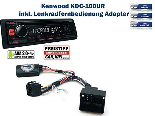 KENWOOD-KDC-100UR-incl-Lenkrad-Fernbedienung-Adapter-Peugeot-verschiedene-Modelle-Bj-ab-2005
