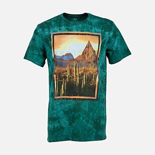 Volcom Men's The Dawn Short Sleeve Washed T Shirt, Grass Green, Medium (Tie Dye Volcom compare prices)