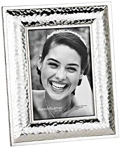 """Reed and Barton Dorsey 5x7"""" Hammered Silver Picture Frame"""