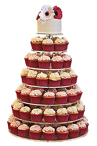 Jusalpha® Large 7-tier Acrylic Round Cake