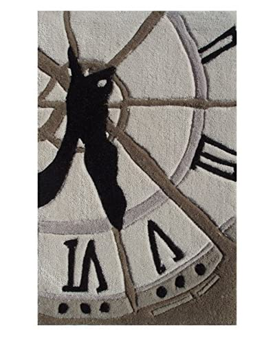 Pop Accents Clock Scatter Rug, Multi, 16 x 27