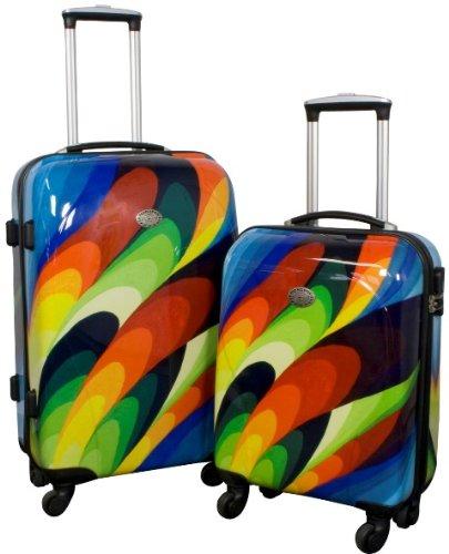 Kofferset 2 tlg. Trolleyset Reisekoffer ABS Hartschale