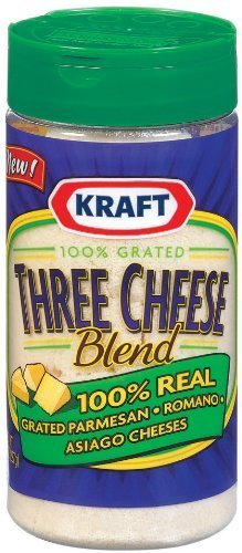 Kraft Three Cheese Blend 8 Oz (Pack of 3) (Kraft Grated Romano Cheese compare prices)