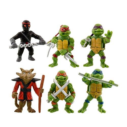 New 6Pcs Teenage Mutant Ninja Turtles TMNT Action Figures Toy Classic