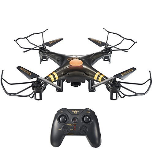 HOSIM F2C Black Aviax Remote Control Quadcopter Drone Helicopter with Transmitter & Gyro System & HD Camera & LED Lights & 4G SD Card & SD Card Reader (Helicopter Quad compare prices)