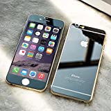 Front+Back Mirror Effect Tempered Glass Screen Protectoranti starch For iPhone 6 (4.7) iPhone 6 plus (5.5)/5s PLEASE TAKE A NOTICE LEATHER ARE NOT COMING WITH THE MIRROR EFFECT SCREEN PROTECTOR