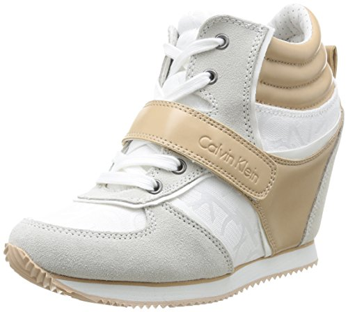 Calvin Klein Jeans  Viridiana,  Sneaker donna Bianco Blanc (Wnl) 38