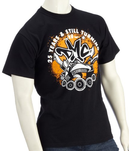 DMC Technics 25 Years & Still Turning Mens Black T-Shirt Small