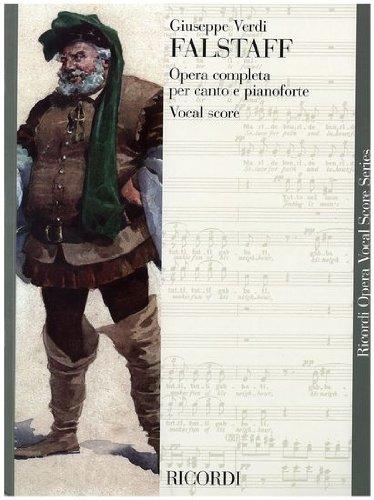 FALSTAFF - VERDI -  OPERA VOCAL SCORE , Libro plurilingue