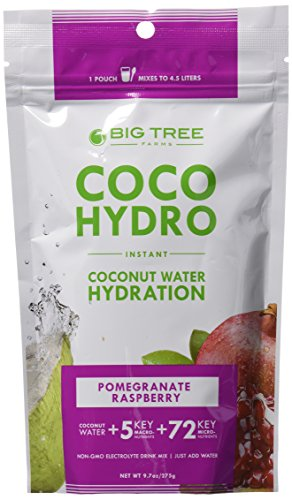 Coco Hydro Instant Coconut Water, Pomegranate Raspberry, 9.7-Ounce Package (Coconut Hydration Mix compare prices)