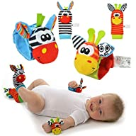 4 x Animal Infant Baby Kids Wrist Rat…