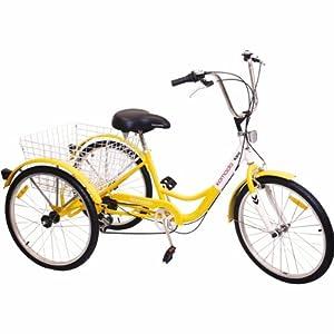 Komodo Cycling 24 inch, 6-speed Adult Tricycle #7001 by Komodo Cycling
