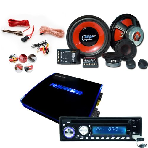 2700W Auto Hifi-Set USB SD CD MP3 Radio Verstärker