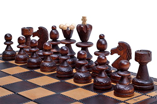 The Delbog Wood Chess Set with Chess Board and Storage 3