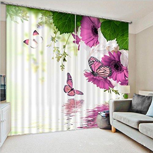 GYMNLJY Farfalla 3D fiori tende oscuranti lavabile finestra di spessore . 3 . wide 3.0x high 2.7