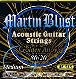 Martin Blust Acoustic Guitar Strings Set 80/20 Medium .013 - .056 M335