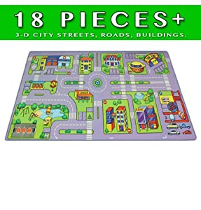 Play Mat 18 + Pieces 3-D City Puzzle