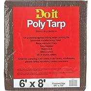 Do it Medium Duty Brown/Green Poly Tarp-6X8 BR/GR MED DUTY TARP