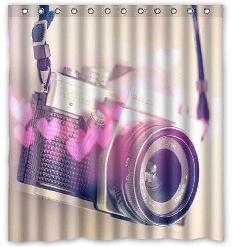"Vintage Cameras Shower Curtain - Standard (66"" X 72"" ) front-1058604"