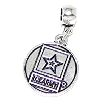 "Pro Jewelry Dangling ""U.S. Army Logo"" Bead for Charm Bracelet from Pro Jewelry"