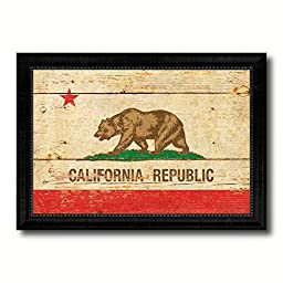 California State Vintage Flag Art Collection Western Shabby Cottage Chic Interior Design Office Wall Home Decor Gift Ideas, 27\