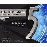 Wrigley's Cobalt 5 Cool Peppermint Gum - 15 piece (10 Pack)