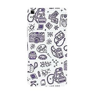 Garmor Designer Plastic Back Cover For Lenovo A7000