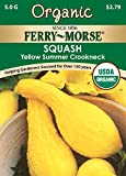 Ferry-Morse 3203 Organic Squash Seeds, Early Yellow Summer Crookneck (5 Gram Packet)