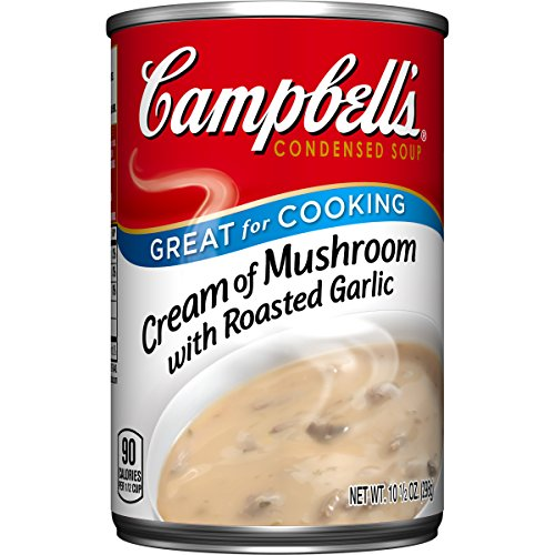 Campbell's Condensed Soup, Cream of Mushroom with Roasted Garlic, 10.5 Ounce (Pack of 12) (Campbell Cream Of Mushroom compare prices)