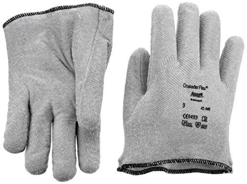 Ansell Crusader Flex 42-445 Guanto per Usi Speciali, Protezione Meccanica, Grigio, Taglia 9 (Sacchetto di 12 Paia)